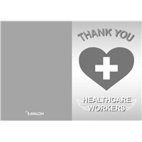 "Healthcare Heroes Card, BW FREE Version 5"" x 7"" (V2)"