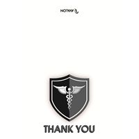 "Healthcare Heroes Cards, BW FREE Version 5"" x 7"""