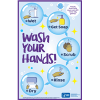 Wash Your Hands Poster 11x17