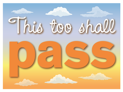 Lawn Sign - This Too Shall Pass
