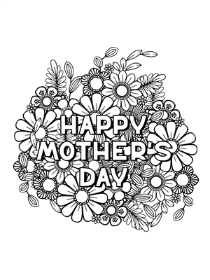 3' x 4' Coloring Mural - Mother's Day (Individual)